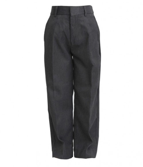 Grey Junior Boys Sturdy Fit School Trouser (7033GREY)