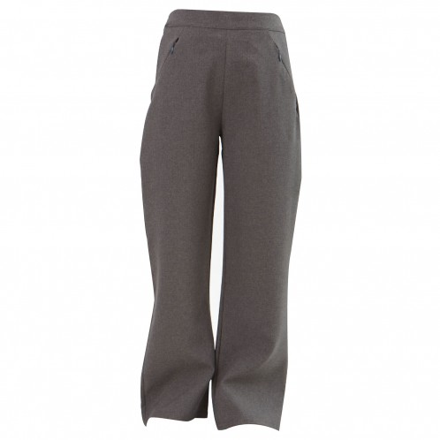 Girls Black Trousers with Zipped Pockets (7060-BLACK)