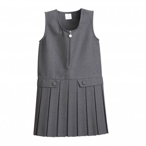 Heart-Zip School Pinafore - Best Seller! (7331)