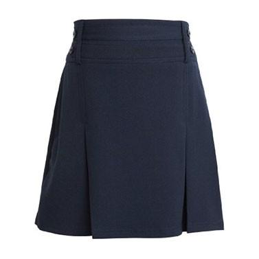 Navy Junior Girls 2 Mock Belts Skirt (7332NAVY)