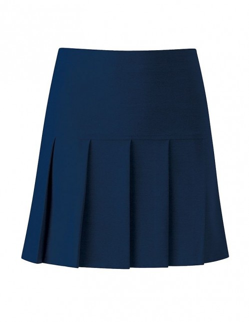 Charleston Longer Length Navy Knife Pleat School Skirt (7388NAVY)