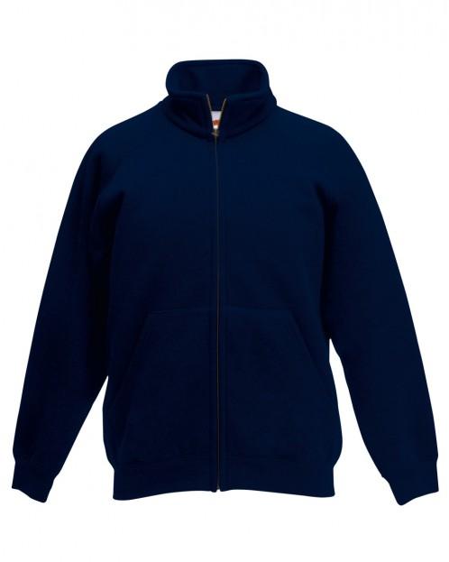 Navy Zip-Through Sweat Jacket (7423NAVY)