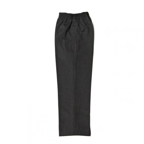 Grey Junior Boys Full Elastic Pull-Up Trousers (7457-GREY)