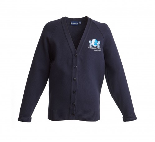 ISIB V-Neck Cardigan with School Logo (8592)