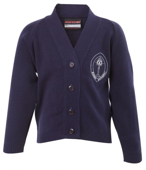 Blessed Sacrament Girls V-Neck Cardigan (BS8478)