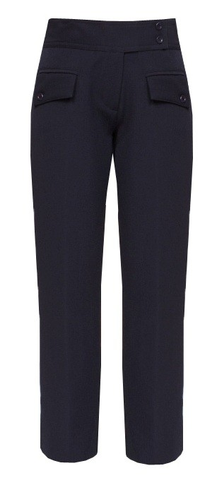 Navy Senior Girls 2-Flap Pocket Trousers (7065NVY)