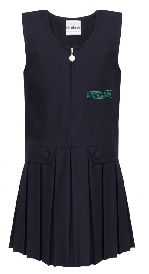 ISVA Heart-Zip School Pinafore with School Logo (ISVA8567)