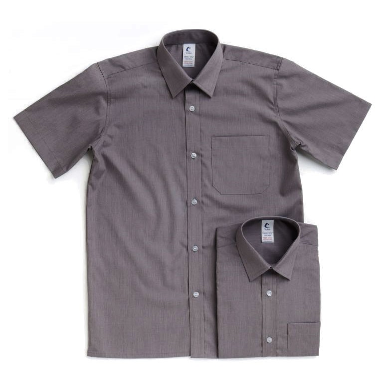 Grey Short Sleeve Shirts Twin Pack 7023 School