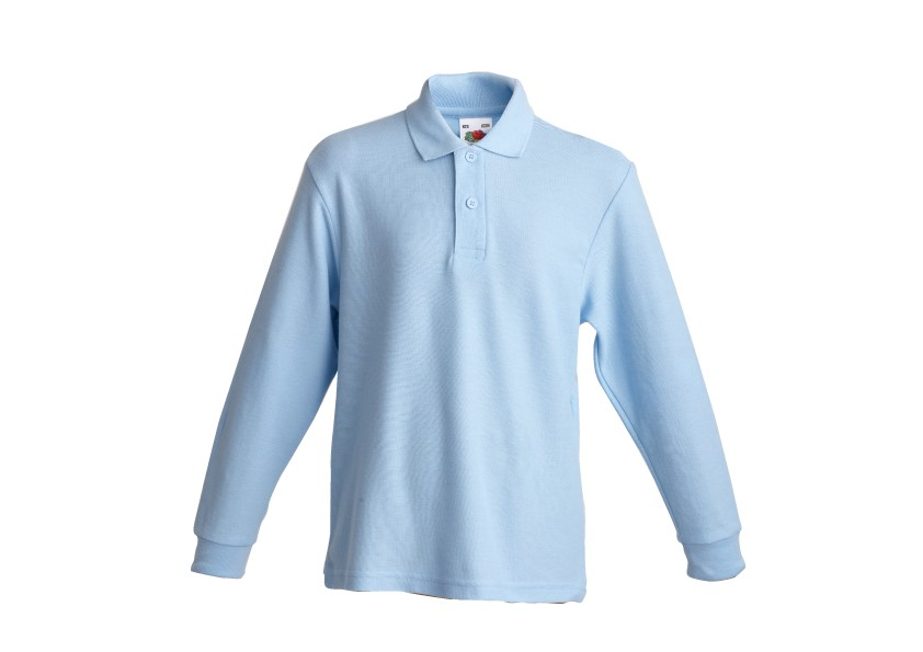 Childrens Long Sleeve Polo T Shirt By 39 Fruit Of The Loom