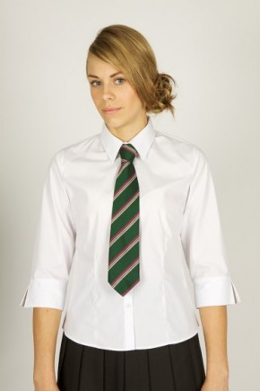 White 3/4 Sleeve School Blouse - Senior School (7072JTS)