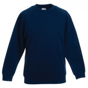 Navy Round Neck Sweatshirt by 'Fruit of the Loom' (7094NAVY)