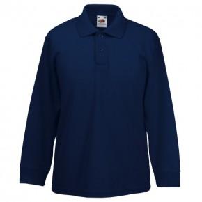 MORA L/S Polo Shirt with School Logo (8242)