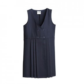 Navy Wrap Front School Pinafore (7110NAVY)