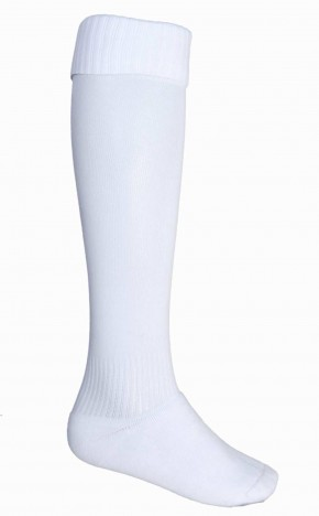 White School Football Socks (7212W)
