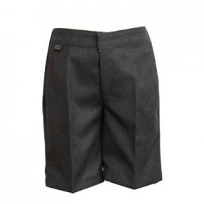 Grey Long Gabardine School Shorts (7300GREY)