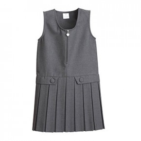 Grey Heart-Zip School Pinafore - Best Seller! (7331GREY)