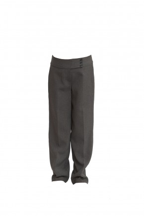 Grey 3-Button Junior Girls Trousers (7339GREY)
