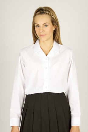 L/S Rever Collar Blouses - Twin Pack (7357)