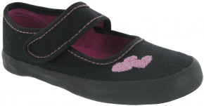 Girls Bar Velcro Plimsolls by Mirak (7402)