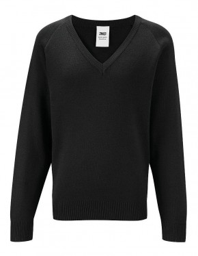 50/50 V-Neck Long-Sleeve Pullover (7425AA)