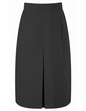 Grey Thornton Front Pleat School Skirt (7452GREY)