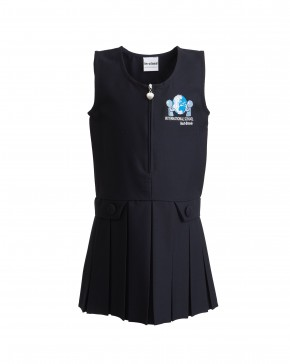 ISIB Heart-Zip School Pinafore with ISIB Logo (8595)