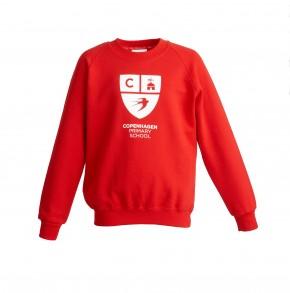 Copenhagen Red Sweatshirt with School Logo (8602)