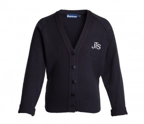 JTS V-Neck Cardigan with School Logo (8701)
