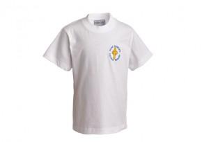 St Patrick's White P.E. T-Shirt (SPP8503)