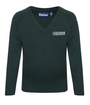 ISVA Long-Sleeve V-Neck Pullover with School Logo (8564)