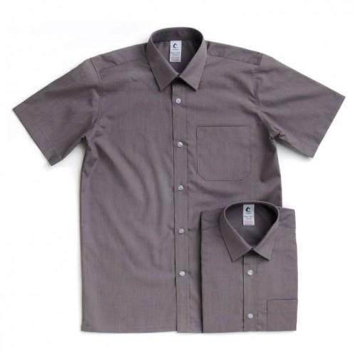 Grey Short Sleeve Shirts - Twin Pack (7023)