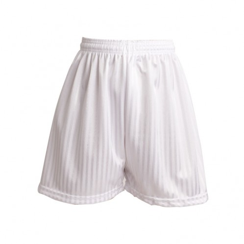 White Shadow Stripe Football Shorts (7210W)