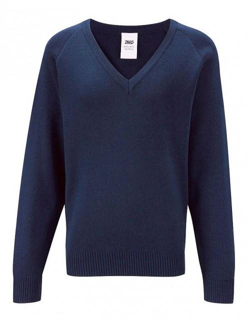 100% Cotton V-Neck Pullover (7472)