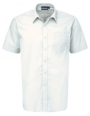White Short Sleeve Shirts - Twin Pack (7022W)