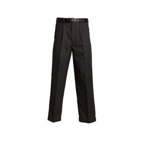 Boys Senior Regular Fit Grey School Trousers (7042G)
