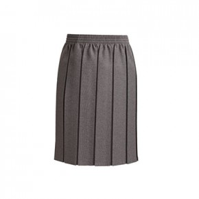 Grey Box Pleat School Skirt (7052GREY)