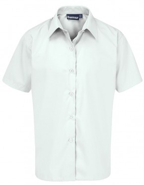White S/S School Blouse - Twin Pack (7076)