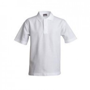 White Short Sleeve Polo T-Shirt (7091)