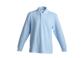 JTS Blue Long-Sleeve Polo Shirt - Junior School (JTSJ7096)