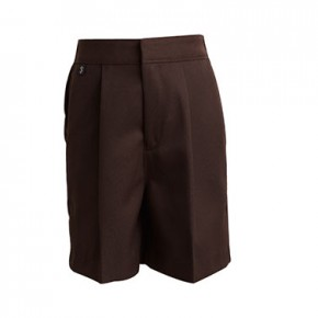 Brown Long School Shorts (7301)