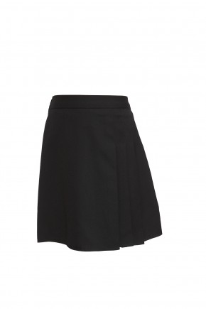 Black Junior Girls 3 Side Pleat Skirt (7333-BLK)