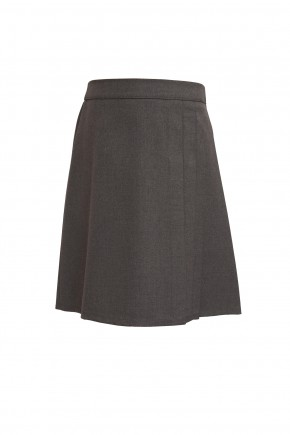 Grey Junior Girls 3 Side Pleat Skirt (7333GREY)