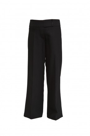 Black 3-Button Junior Girls Trousers (7339-Black)