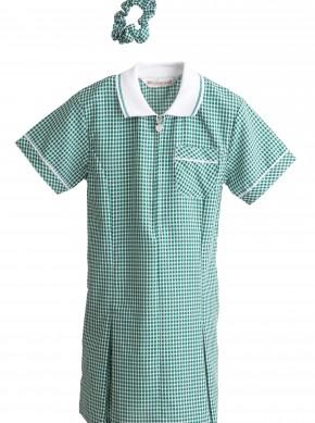 Girls Bottle Green Summer Dress - Best Seller! (7364BTL)