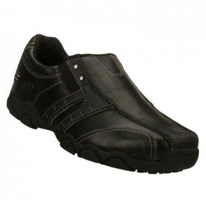 Skechers Boys Leather School Shoes (7405)