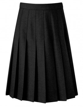 Davenport Knife Pleat School Skirt (7419BLK)