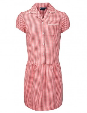 Red Ashley Gingham Check Summer Dress (7478-RED)
