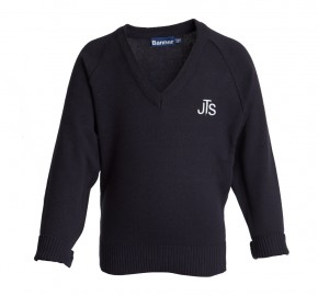 JTS V-Neck Pullover with School Logo (8700)