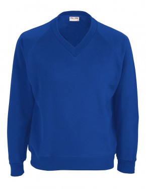 Ickburgh School - Compulsory Primary V-Neck Sweatshirt with School Logo (9040)