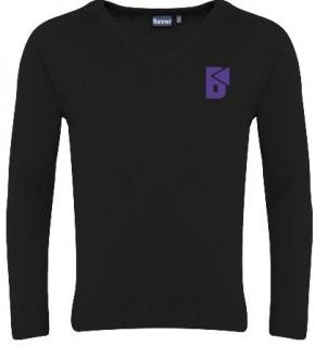 Beacon High V-Neck Pullover with School Logo (8133)
